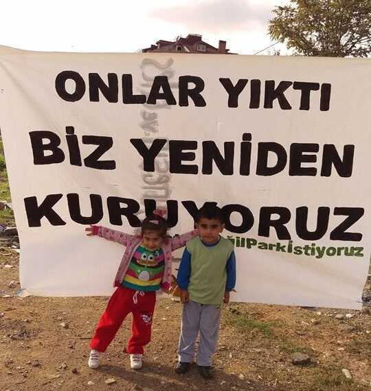 Sarıgazi'de halk kurdu, AKP'li belediye yıktı