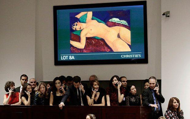 Modigliani'nin tablosu kredi kartıyla alınmış