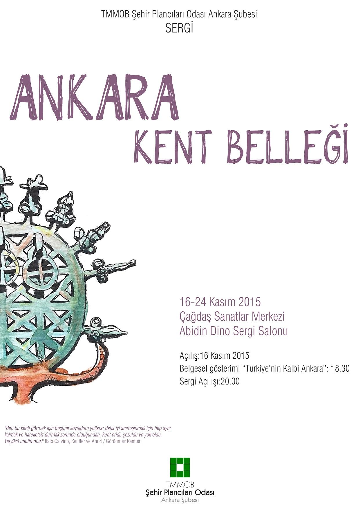 Ankara'da Kent Belleği Sergisi
