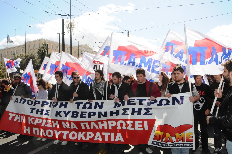 Yunanistan'da büyük grev
