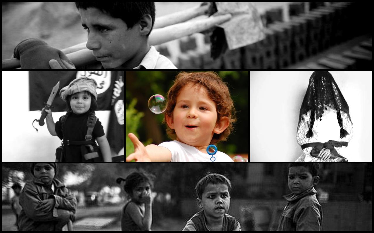 Çocuklar işçi ve yoksul