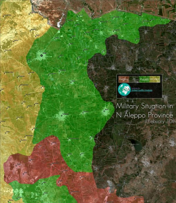 Suriye ordusunun Halep'in kuzeyinde başlattığı operasyon sonrası geçen haftaki durum