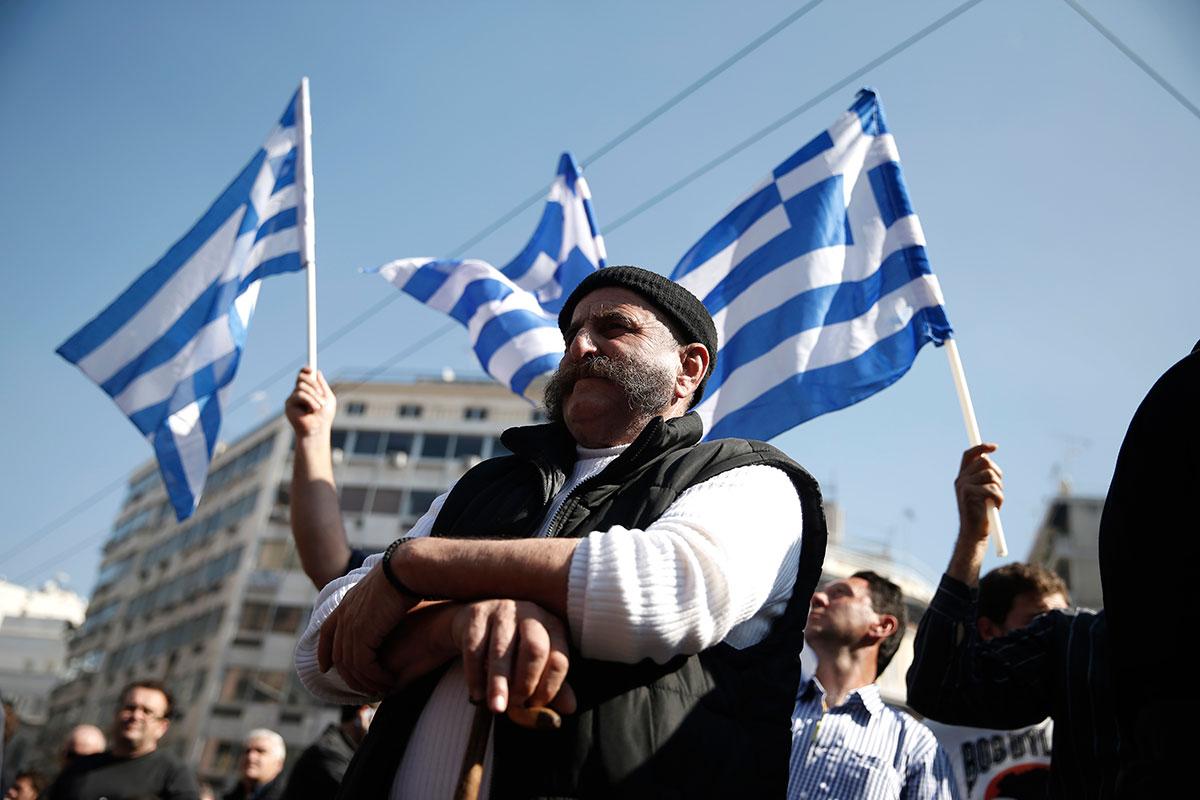 Yunanistan'da çiftçiler boyun eğmiyor