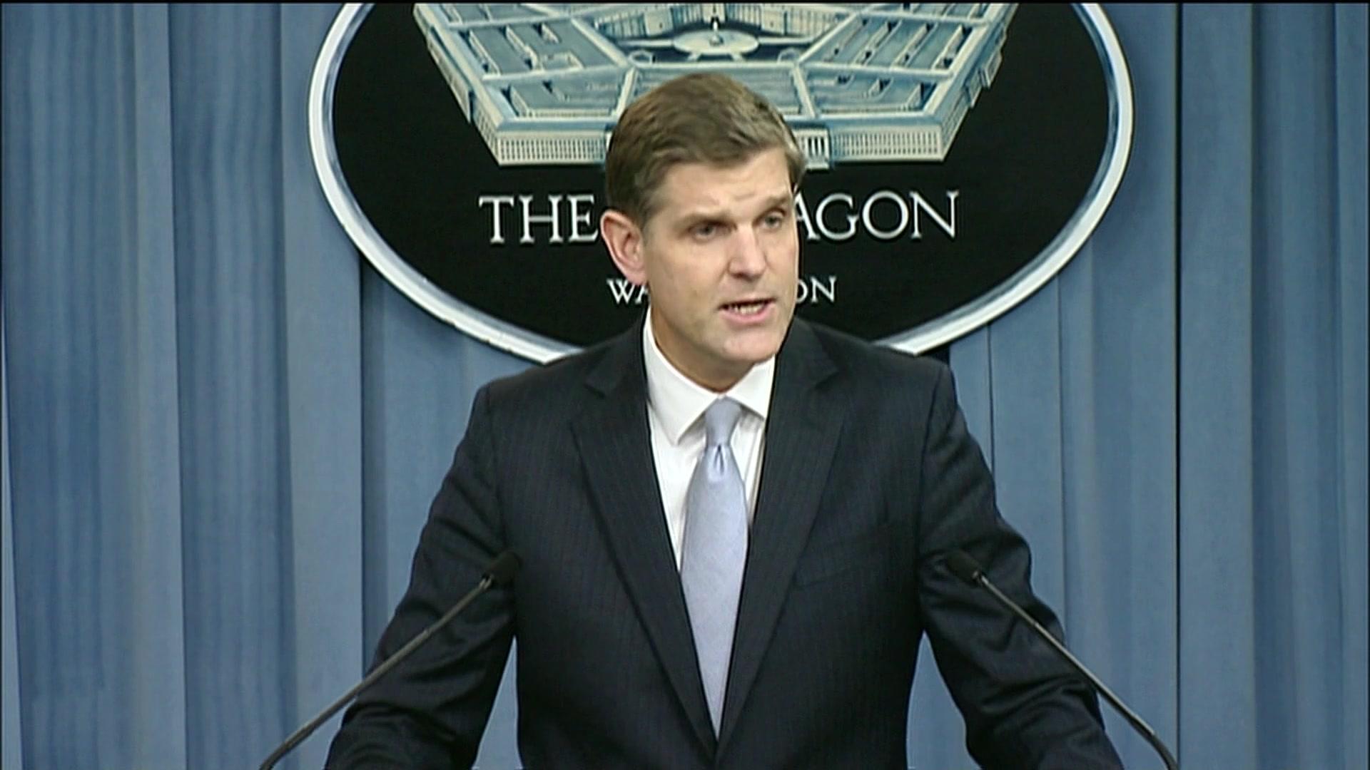 Pentagon'dan Tel Abyad'a ABD bayrakları asılmasına ilişkin açıklama