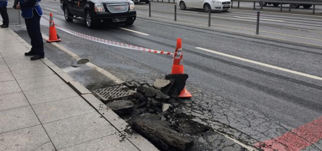 Erdoğan geçecek diye asfalt incelendi