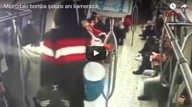 VİDEO | Bomba şakasının görüntüleri ortaya çıktı, işte o anlar