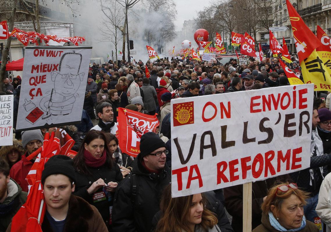Fransa'da iş yasası teklifine karşı mücadele sürüyor
