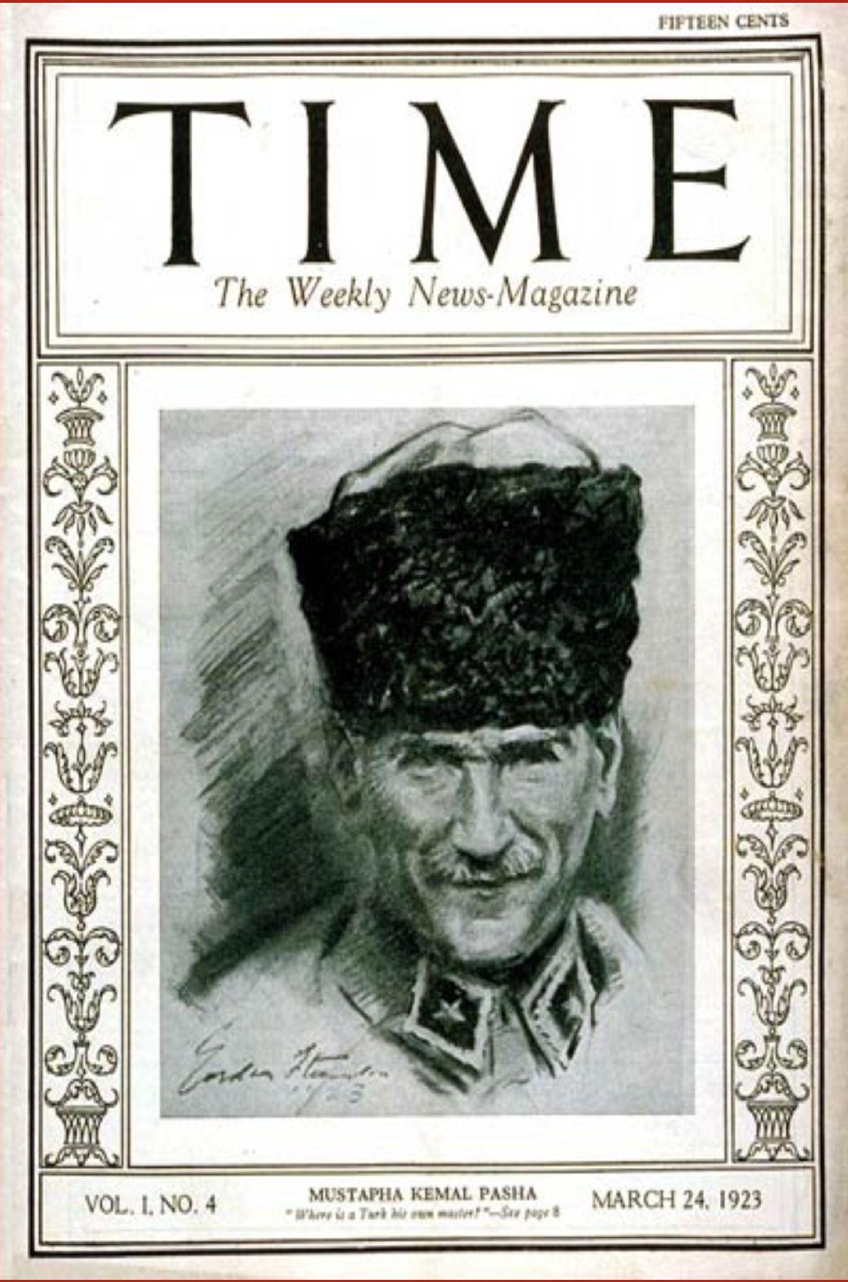 24 Mart 1923 - Mustafa Kemal Time Dergisi'ne kapak oldu