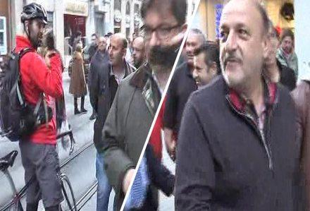 İstiklal caddesine giden Vural'a tepki: Yiyin yiyin, alışkınsınızdır