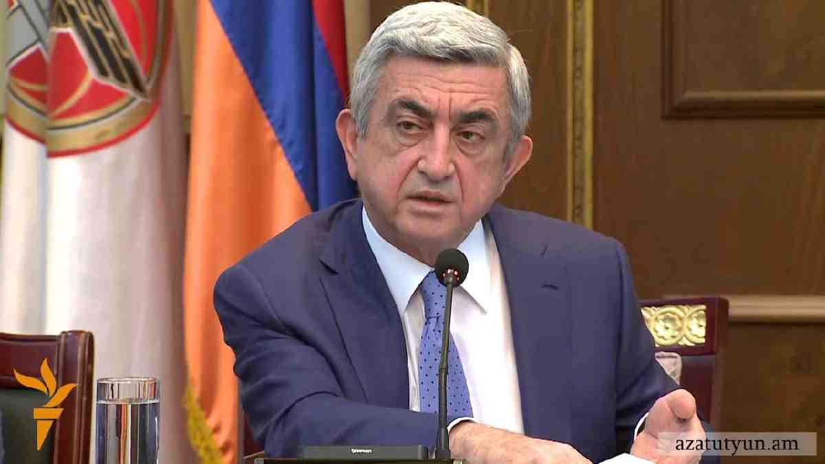 Ermenistan Cumhurbaşkanı Sarkisyan: Her an savaş çıkabilir