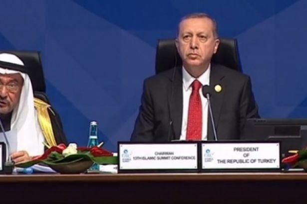 Erdoğan, İslam Zirvesi'nin kapanışında tuttuğu aidat çetelesini ortaya döktü!
