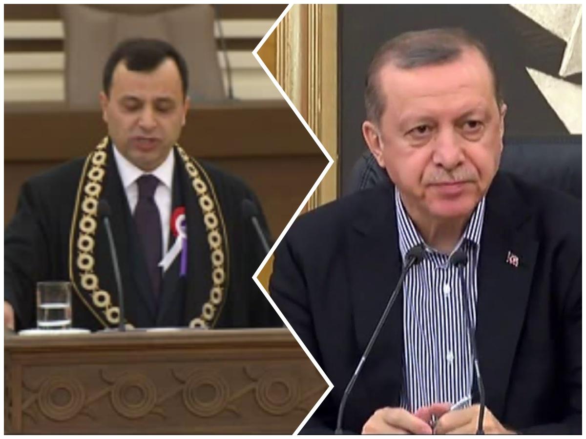 Seyirlik görüşme: Erdoğan Anayasa Mahkemesi Başkanı ile buluşuyor