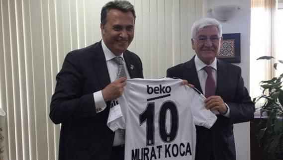 Beşiktaş Başkanı Orman'dan #Karaman Valisi'ne forma hediyesi!