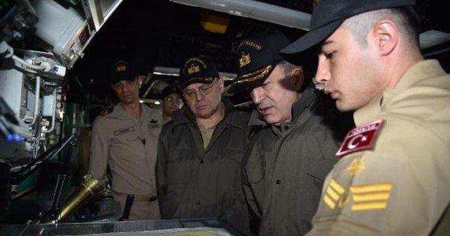 Orgeneral Akar, Deniz Kuvvetlerini denetledi