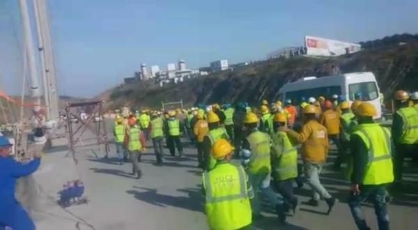 Erdoğan'ın işçilere verdiği söz de yalan... 3. köprü işçileri yine eylemde