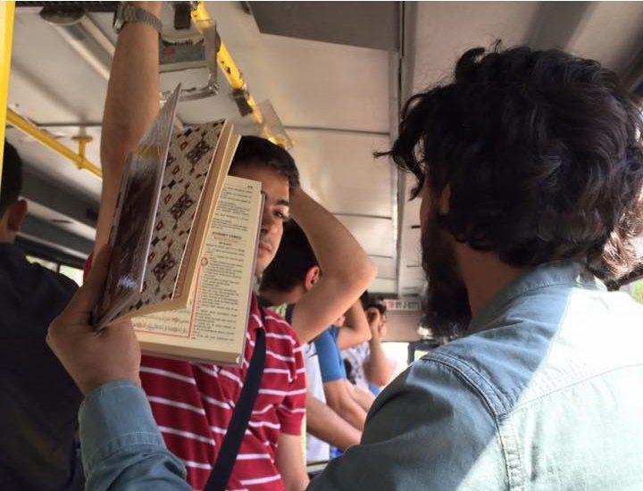 Halk otobüsünde Kur'an provokasyonu
