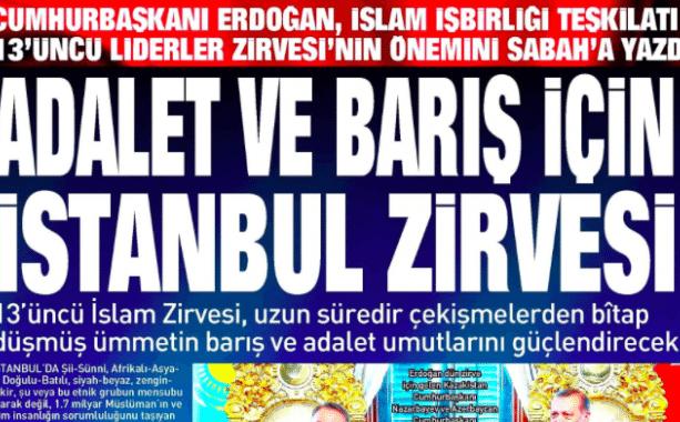 Erdoğan, gazeteye yazı yazdı!