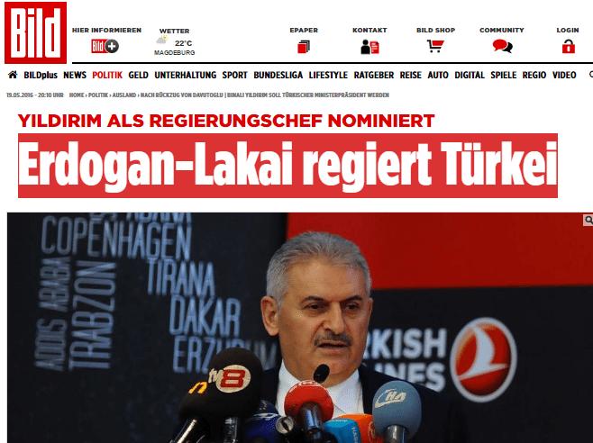 Yıldırım'ın adaylığı dış basında: Erdoğan'ın uşağı Türkiye'yi yönetecek