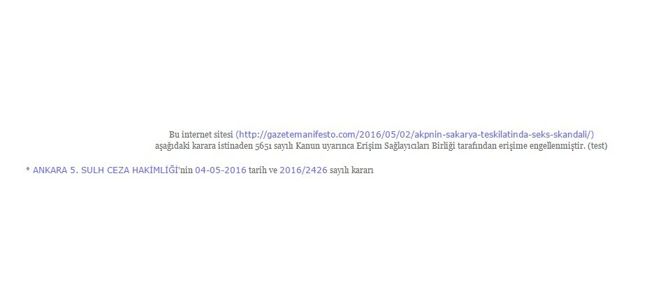 Gazete Manifesto haberine sansür!