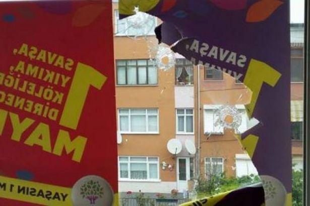 İstanbul'da HDP binasına silahlı saldırı