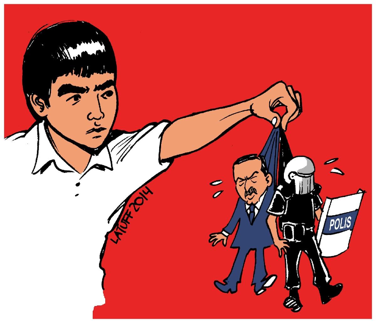 Çizgili muhalefetin ustası Carlos Latuff'un eserleri Türkiye'de