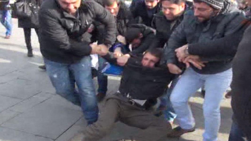 Taksim Meydanı: 3 inşaat işçisi gözaltında