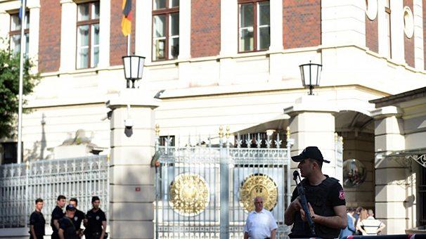 Almanya Konsolosluğu önünde güvenlik önlemi