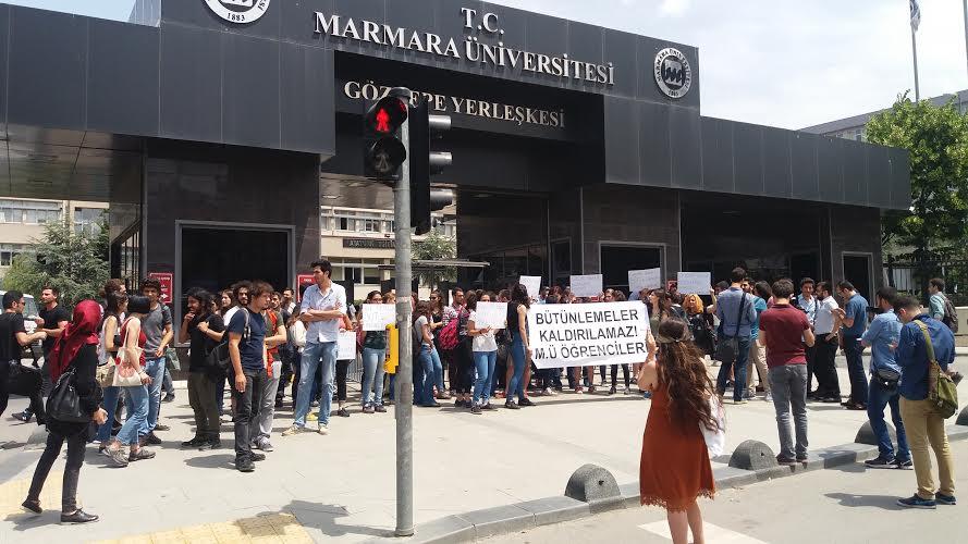 Marmara Üniversitesi'nde bütünleme protestosu