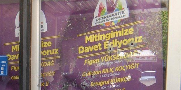Polis, HDP binasını kurşunladı