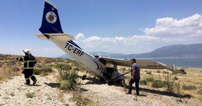 Burdur'da eğitim uçağı zorunlu iniş yaptı