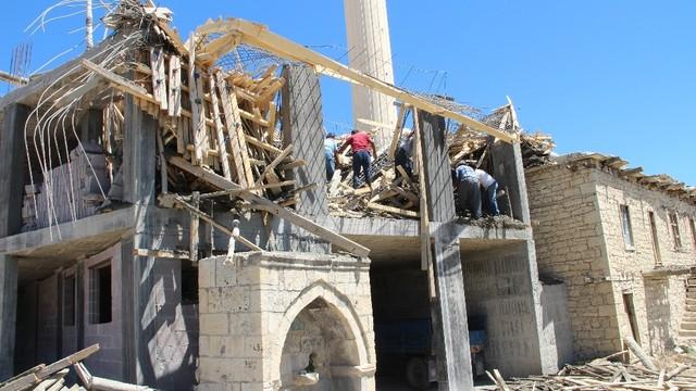 Cami inşaatında iş cinayeti