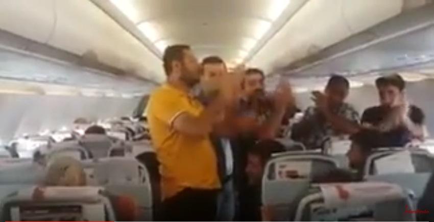 VİDEO | Uçakta '5 saat rötar' isyanı: Hırsız Pegasus!