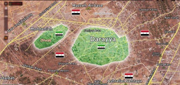 Cihatçılar Şam'ın Deraya beldesini boşaltıyor