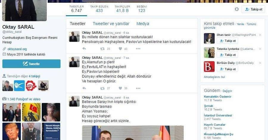 Erdoğan'ın başdanışmanına suç duyurusu