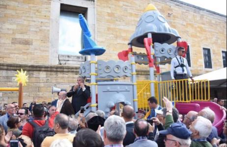 Anıtkabir'deki çocuk parkı CHP Çankaya ilçe örgütü tarafından söküldü!