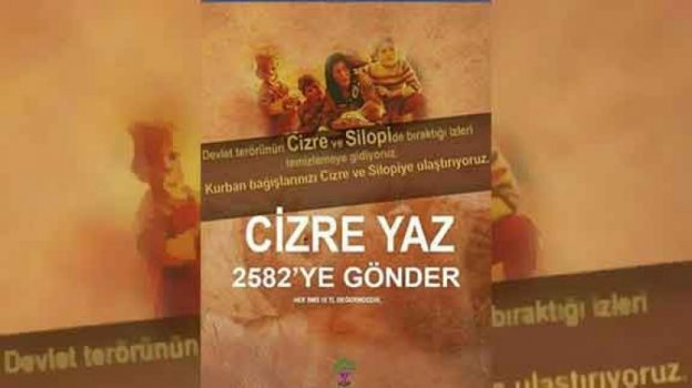 'Cizre ve Silopi'ye yardım' Mehmetçik Vakfı'na gitti
