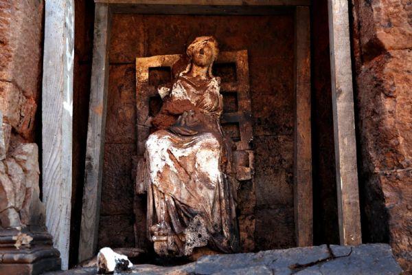 Ordu'da binlerce yıllık Kibele heykeli bulundu