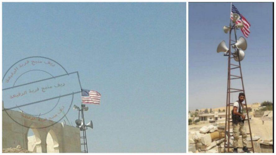 Menbiç'e Amerikan bayrağı asıldığı iddia ediliyor