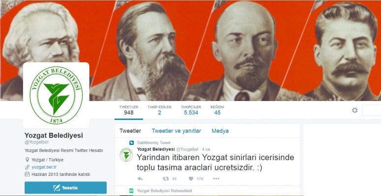 Redhack Yozgat Belediyesi'nin internet sitesini ve sosyal medya hesaplarını hackledi