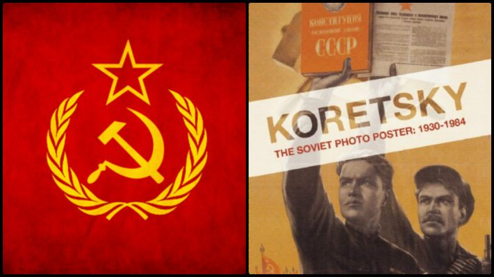 Sovyet posterleri emperyalizme ve savaşa karşı mücadeleyi anlatıyor