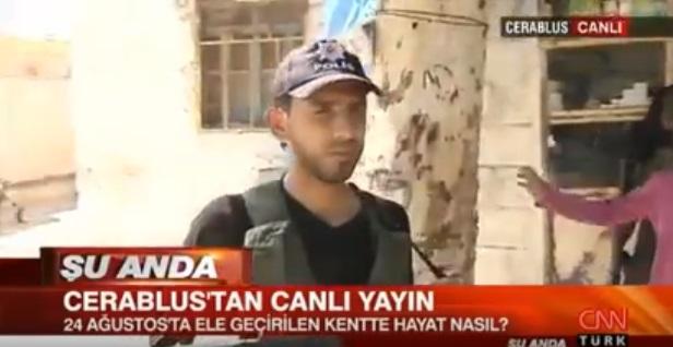 VİDEO | ÖSO'cu cihatçıların başında Türk polisi şapkası!