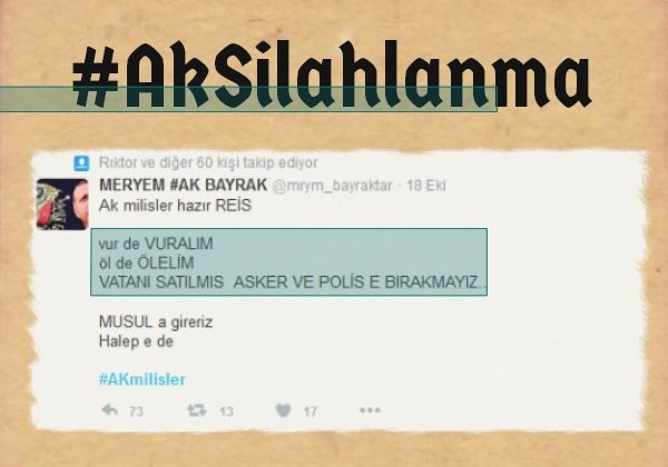 AKP'lilerden Erdoğan için silahlanma çağrısı!