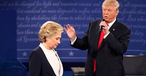 Trump'tan Clinton'a: Ne kadar iğrenç bir kadınsın