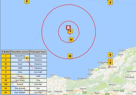 Karadeniz'deki deprem İstanbul'dan da hissedildi!