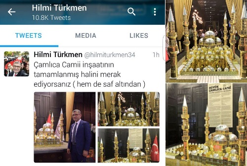 Şaka değil: Çamlıca Camii'nin tam 233 kilo som altınla 'maket'i yapıldı