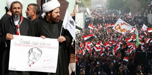 Irak'taki Türk Büyükelçiliği önünde protesto: