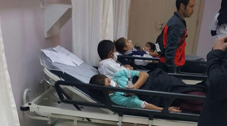 Doğubayazıt'ta 100'e yakın öğrenci hastaneye kaldırıldı