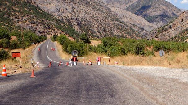 Dersim - Ovacık karayolu trafiğe kapatıldı