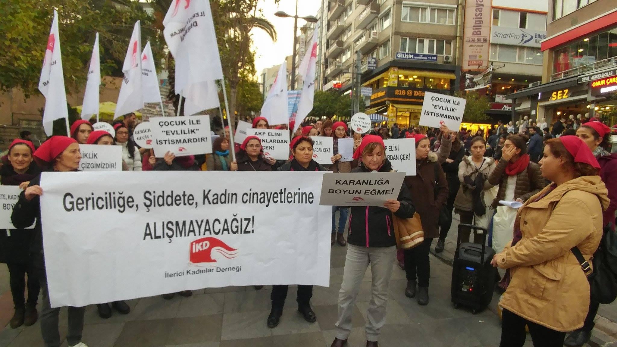 İKD'den eylem: Mücadelemiz laik ve aydınlık bir Türkiye içindir!