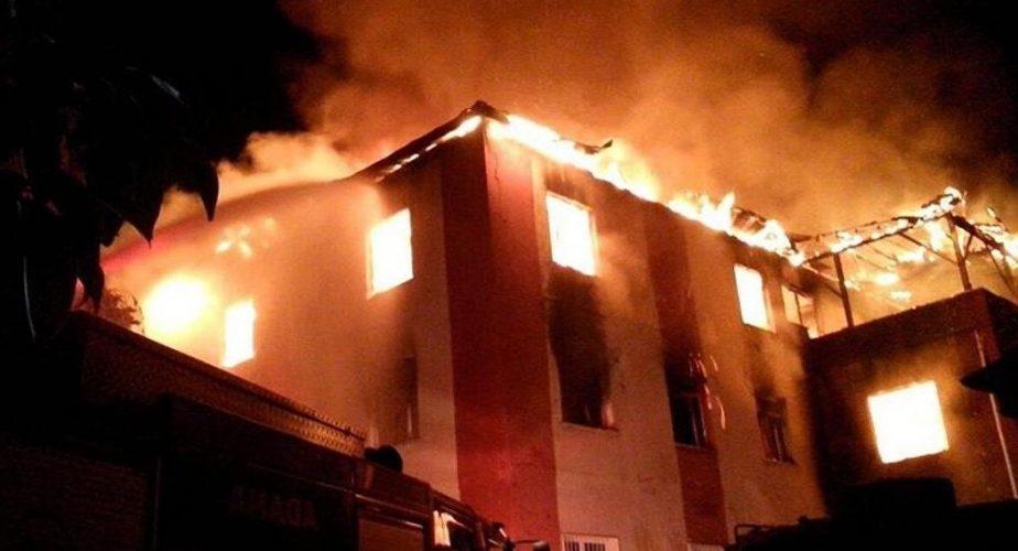 Adana'da öğrenci yurdunda yangın faciası: 12 ölü, 13 yaralı